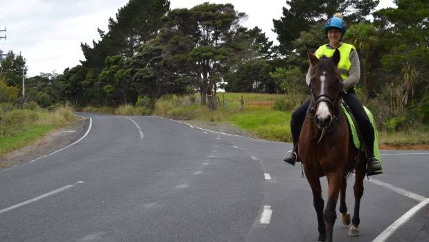 Anna Featherstone will ride Toby at the Ride for Road Safety event in Taupaki on May 20.