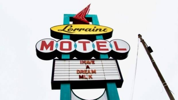 The Lorraine Motel was the scene of the assassination of Dr Martin Luther King, and is now the National Civil Rights Museum.