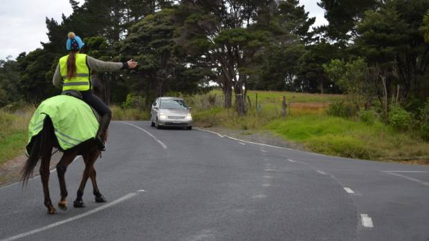 Anna Featherstone said drivers often do no know how to react when there are horses on the road.