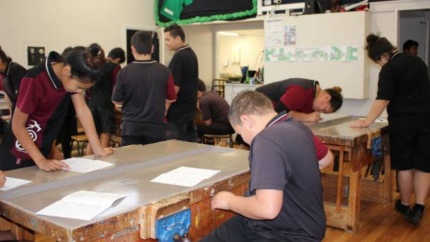 Students during their expo class at Manurewa Intermediate.