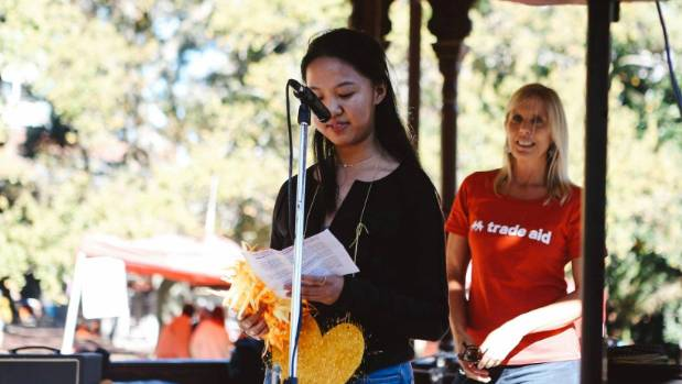 Christine Zhang, 17, organised a fair trade festival on World Fair Trade Day.