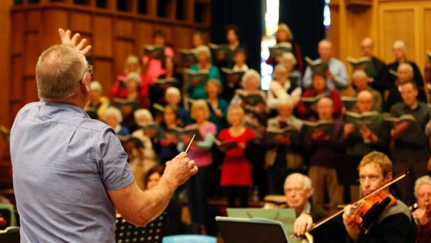 Chris Lukies conducts the Nelson Civic Choir on Sunday at Nelson's Cathedral, performing Rossini: Petite Messe Solennelle