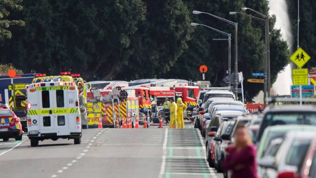 Roads were closed and residents evacuated as emergency services dealt with a major gas leak not far from Hawke's Bay ...