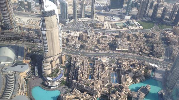 The view from the top of Dubai's Burj Khalifa, the tallest building in the world.