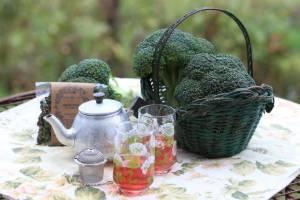 Broccoli tea for two.
