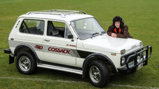 Tom Henman with his 1992 Lada Cossack converted from petrol to diesel.