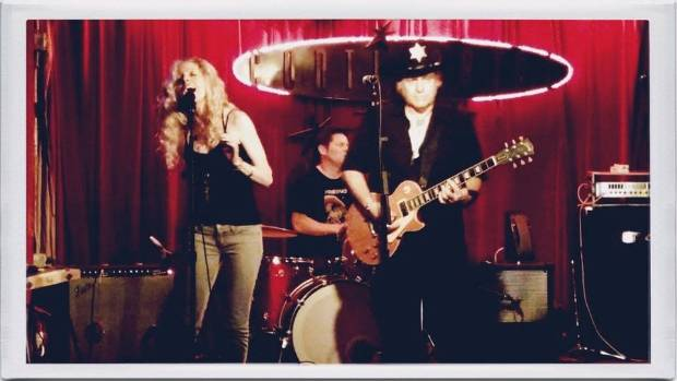 Anna Marie Lewis and Denny Freeman play The Continental in Austin, Texas.