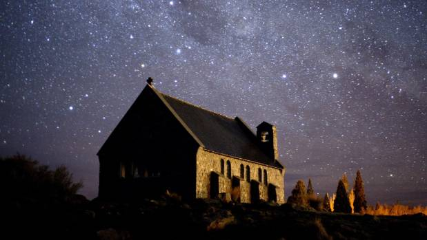 The night sky in Tekapo has become an international astro-tourism attraction.