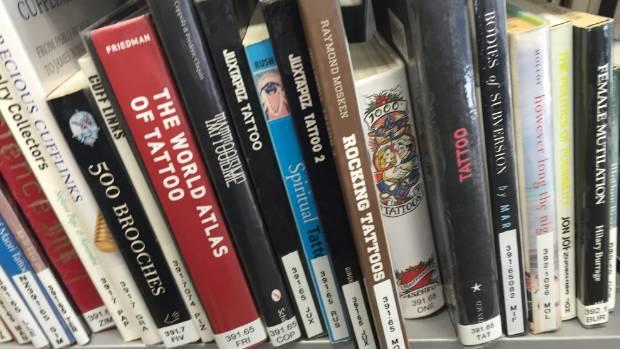 Books on tattooing - and expensive art books - often go missing from Puke Ariki Library.