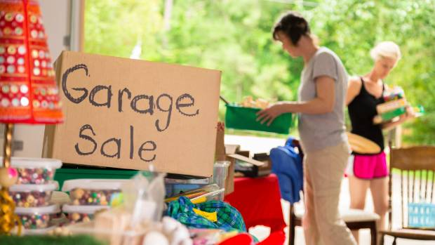 Bob Irvine's garage sale of quirky stories and sayings has something for everyone, and they're free.