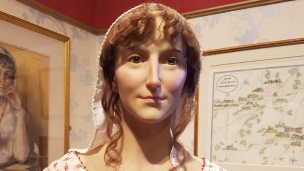 A wax statue of Jane Austen at the Jane Austen Centre in Bath.