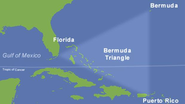The Bermuda Triangle is infamous for missing planes and boats..