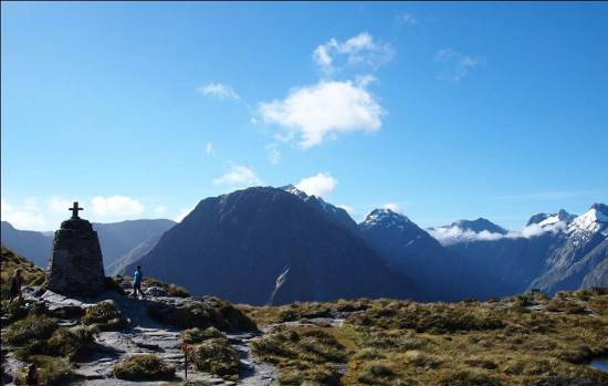 Spectacular views from the summit of Mackinnon Pass on the Milford Track attracted more than 7000 walkers in 2015/16