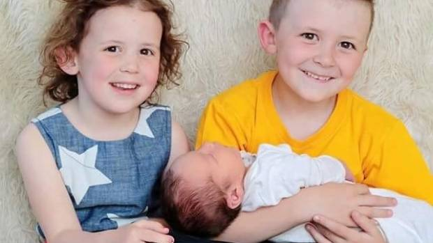 Christchurch mum Kate Griffith has exclusively breastfeed her three children Tilly-Rose, Oscar and newborn Eddie.
