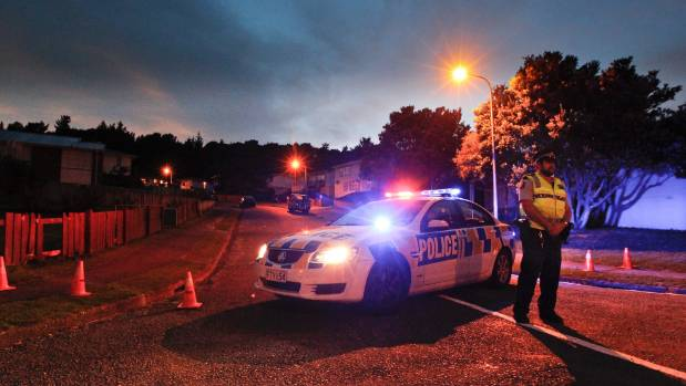 Police blocked access to Penguin Grove, Waitangirua, after two women were injured and Ruka Hemopo was shot by police.