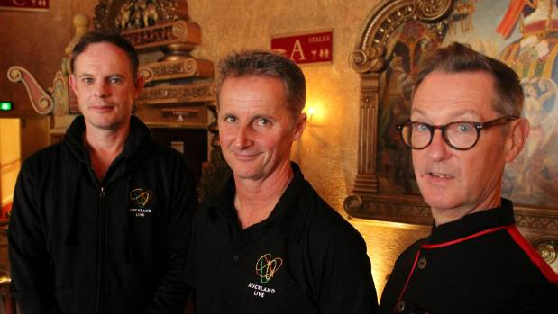 Peter Dobson, Bryce Gibson and James Manning of Auckland Live will be guiding Civic Theatre tours.