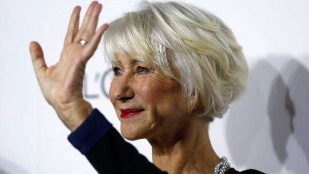 Helen Mirren owns her grey hair.