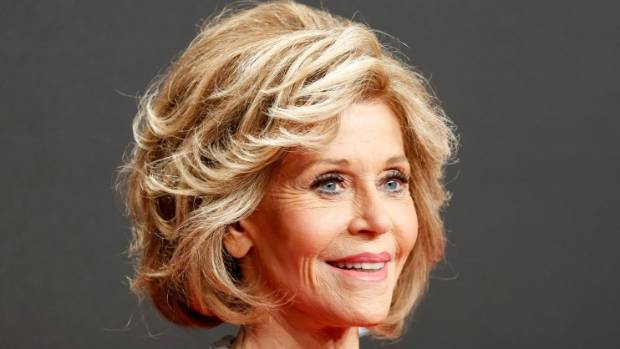 Jane Fonda has an excellent stylist taking her grey to blonde.