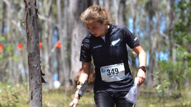 Havelock North High School student and high achieving Jenna Tidswell, who represents NZ in junior orienteering.