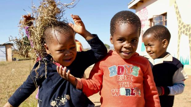 A Swazi stitch up: Whilst supervising playtime at Nkhanini neighbourhood care point in Lobamba Swaziland I caught Sipho ...