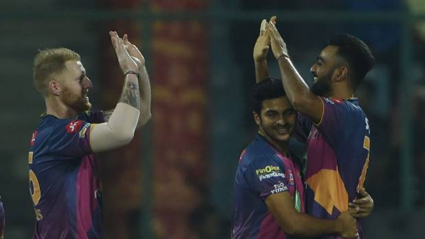 Jaydev Unadkat (right) of Rising Pune Supergiants is the second top wicket-taker in IPL 2017.