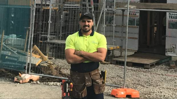 Jesse Waetford-Wilson started his building apprentice after completing a bachelor of arts degree.