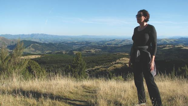 Journalist Kim Newth checks out the off-road trails within easy reach of the Kowhai Eco Lodge.