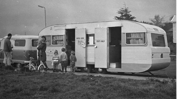 The first mobile library, in 1967.