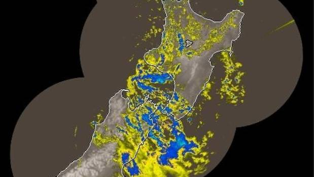 Heavy rain hits the top of the South Island and Wellington in this MetService rain radar image from 7.13am on Thursday.