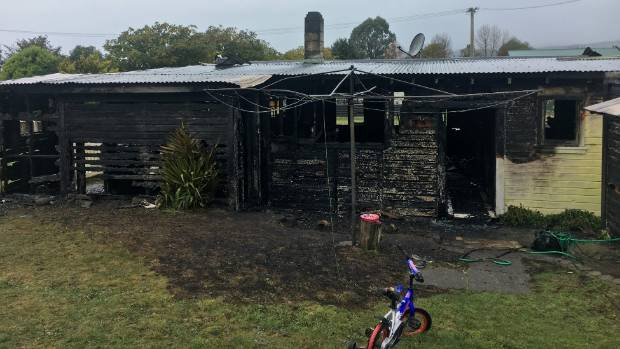 The house on Kahu St went up in flames on Wednesday night.