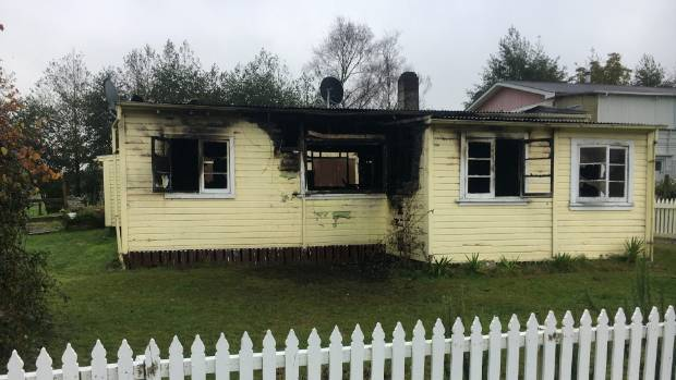 The fire started in the kitchen where a pot of hot oil went up in flames.