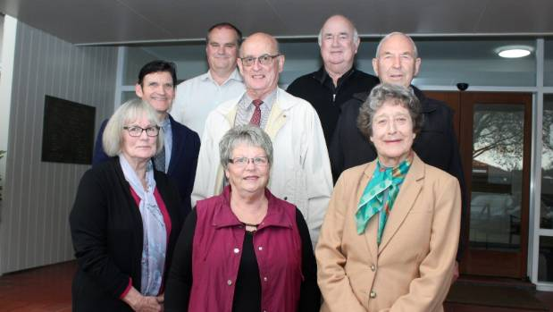 Cambridge Health and Community Centre Trust Board members, Back row Rob Feisst, Bruce Morrison, Middle Row; Lloyd ...