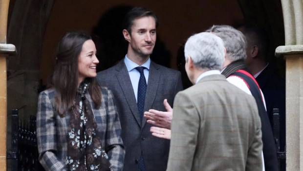 Pippa Middleton with fiance, James Matthews.