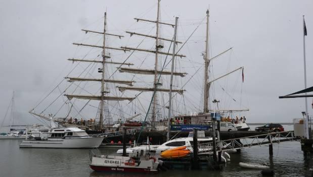 The tall ship Tenacious at Port Nelson.