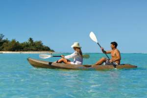 Kayaking, Rarotonga, Cook Islands.