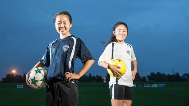 Sola and Kaisa Tsuruta are the first sisters to play for the Tasman United women's football team.