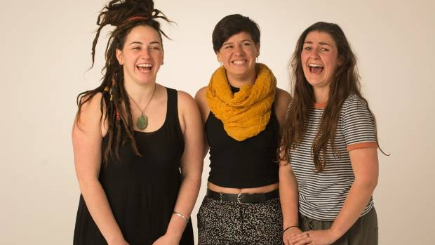From left, Bop Murdoch, Jody Burrell and Sarah Tuck, co-founders of CoLiberate - will share the stage at TEDxWellington ...