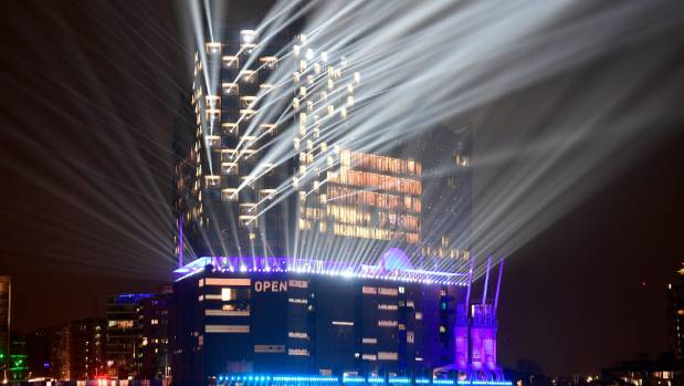 Elbphilharmonie illuminated during its opening in January.