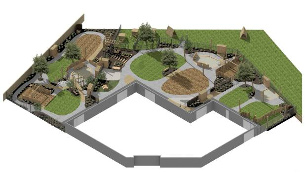 The outdoor plans show plenty of green space for children to utilise.