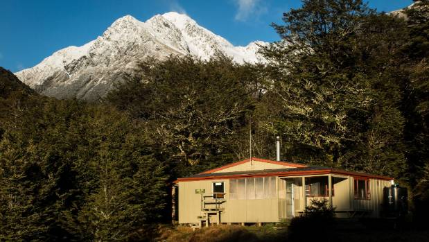 The Travers-Sabine circuit already has serviced huts, including John Tait Hut, pictured.