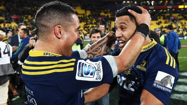 Highlanders Aaron Smith, left, and Lima Sopoaga will come off the bench against the Force.