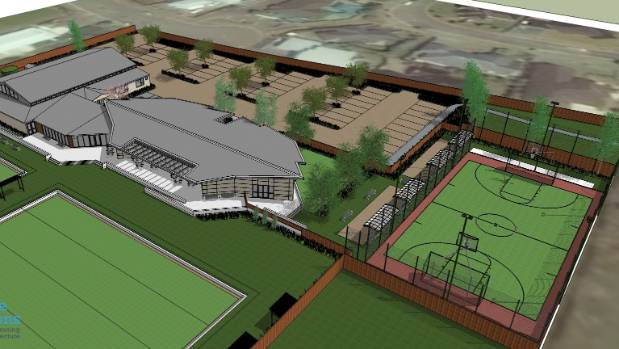 The Pukeko Centre will contain clubrooms, meeting rooms, an indoor sports, events and performance venue, along with ...