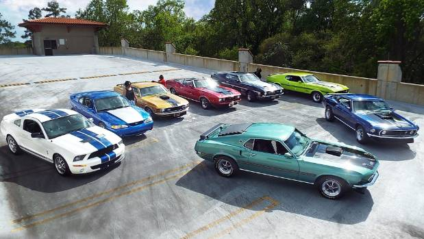 The Speed family Ford Mustang collection.