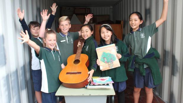 Forrest Hill School's student government Joe Dennis, Summer Hawkins, Christian Baxter, Emma Zhou, Tara Yoo and Salina ...