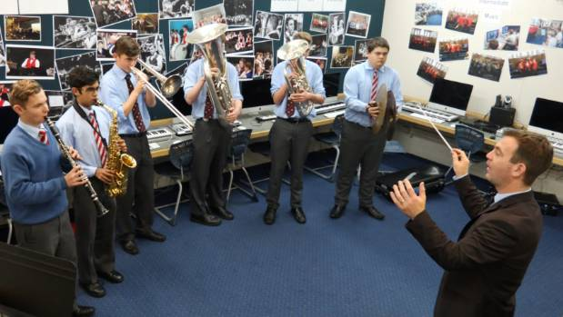 Dr Flemming Kristensen, director of music and performing arts at Lindisfarne College, Hastings, with some of the ...