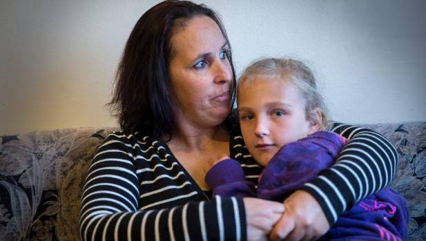 Gabi, 9, with mum Toni Barnett, at home in Whanganui.