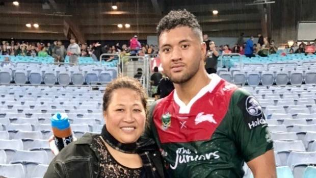 Cruz Topai-Aveai on the sidelines after a Toyota Cup match with his mother Lanuola Aveai. He is now signed with the ...