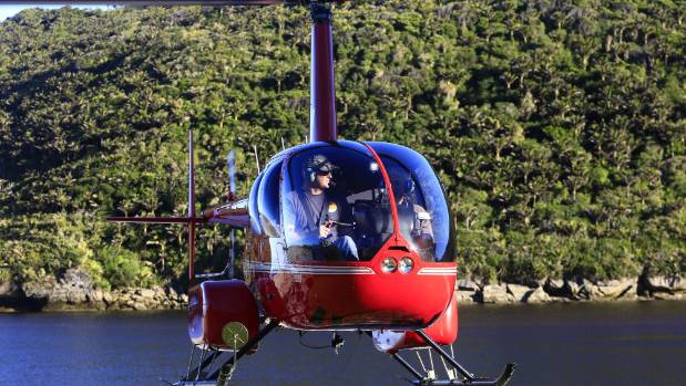 Heli Charter Karamea does a lot of tourism work, such as this transfer of trampers from Heaphy Hut.