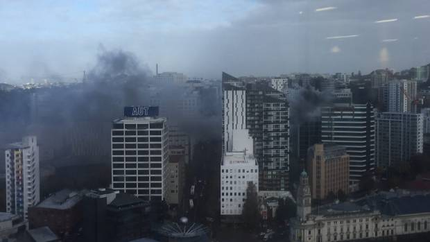 High rise fire in Auckland CBD brought under control