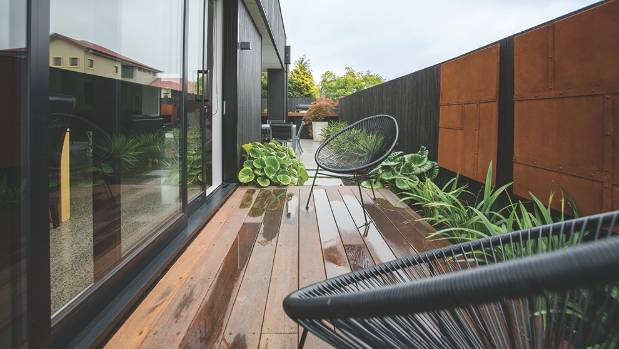 The secluded outdoor area is perfect for entertaining.